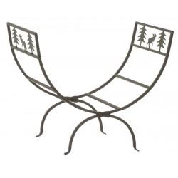Porte bûches - Décor renne