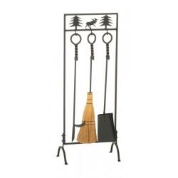 Serviteur 3 instruments - décor renne - 80cm