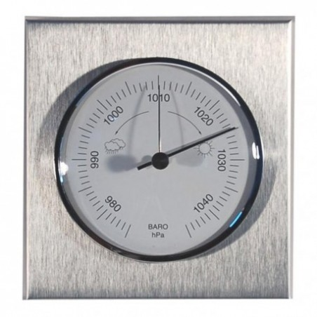 Baromètre carré aluminium