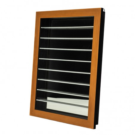 Vitrine pour collection - finition miel
