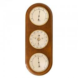 Baromètre thermomètre hygromètre arrondi antiquaire