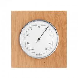 Thermomètre carré chêne massif