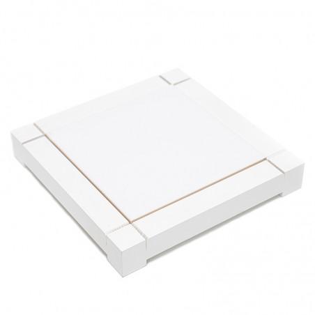 Dessous de plat en faïence avec cadre blanc