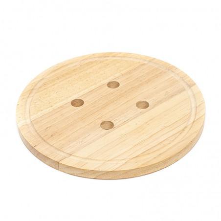 Dessous de plat rond en forme de bouton