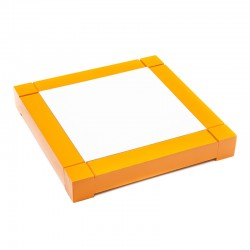 Dessous de plat en faïence avec cadre orange