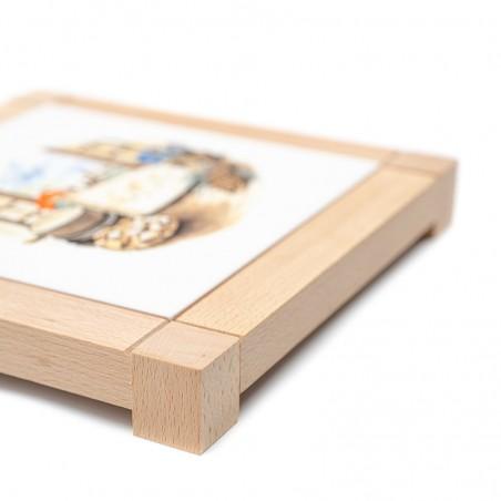 Dessous de plat carré en faïence - décor emmental