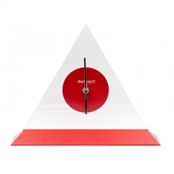 Pendule triangulaire rouge...