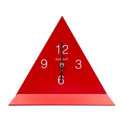 Pendule triangulaire rouge