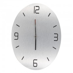 Pendule ovale aspect aluminium