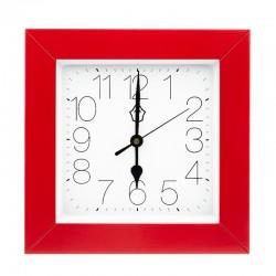 Pendule range-clés carrée avec cadre rouge