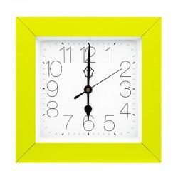 Pendule range-clés carrée avec cadre vert anis