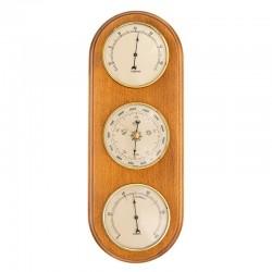 Baromètre thermomètre hygromètre arrondi miel