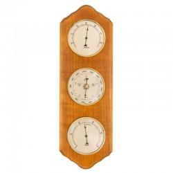 Baromètre thermomètre hygromètre festonné miel