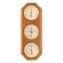 Baromètre thermomètre hygromètre octogonal miel