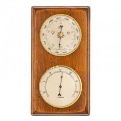 Baromètre thermomètre rectangulaire finition antiquaire