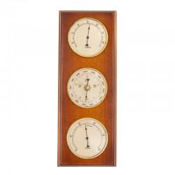 Baromètre thermomètre hygromètre rectangulaire merisier