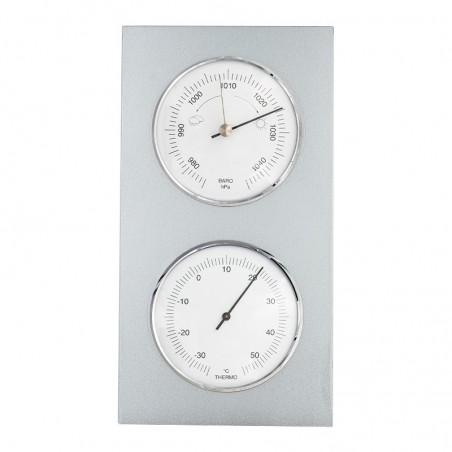 Baromètre thermomètre tendance laqué aluminium