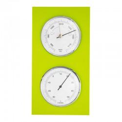 Baromètre thermomètre tendance vert anis