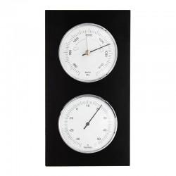 Baromètre thermomètre rectangulaire wengé