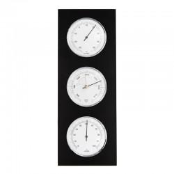 Baromètre thermomètre hygromètre rectangulaire wengé