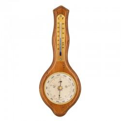 Baromètre thermomètre Lyre finition antiquaire