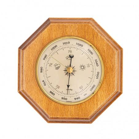 Baromètre octogonal finition miel patiné