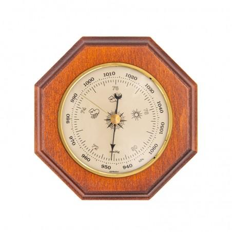 Baromètre octogonal finition merisier
