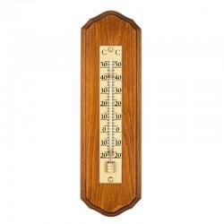 Thermomètre festonné fond bois