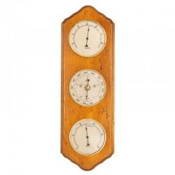 Baromètre thermomètre hygromètre festonné antiquaire