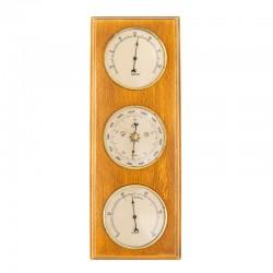 Baromètre thermomètre hygromètre rectangulaire miel